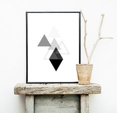 Geometric Print Instant Download Printable Art by honeytreeprints