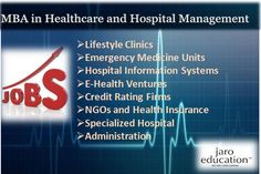 Easily start your career through MBA in Healthcare & Hosipital Management as see the various job opportunities ahead via Best International MBA Institute in India