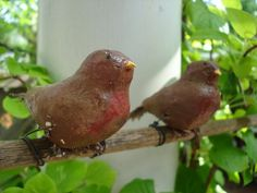 paper mache birdies by keeshagirl4, via Flickr