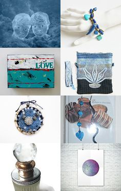 Joy in blue,        31.01.16. 20,50 by Millie Ol on Etsy--Pinned with TreasuryPin.com