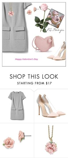 """""""Cupcakes &Roses...p.s I love you 💕"""" by frenchfriesblackmg ❤ liked on Polyvore featuring Banana Republic, Gianvito Rossi and 1928"""