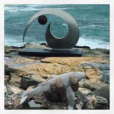 Sculptures. #sculpturesbythesea #sculptures #art #culture #sea #beach #coast #water #bondi #bondibeach #bronte #bonditobronte #sculpturesbythesea2015 #fish #walk #explore #sydney #nsw #australia #rocks #cliff #instagood #instadaily #picoftheday by laura_inthesky http://ift.tt/1KBxVYg