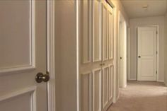 Create a raised panel look on plain interior doors. YES YES YES - my next super duper project - don't tell Mike