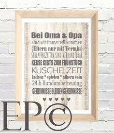 Digitaldruck - ★ bei OMA & OPA ★ Print 21x30,5cm ★ - ein Designerstück von eazy-peazy bei DaWanda