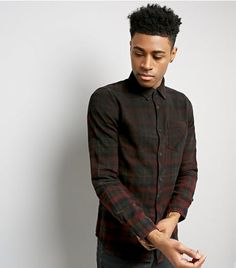 Burgundy Ombre Check Shirt | New Look