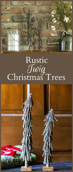This twig Christmas tree can be made for next to nothing by using fallen branches found in your yard. A fun rustic craft to add to your holiday decor. #christmascrafts #ChristmasDecor #ChristmasTree #twigtree