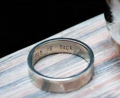 This Engraved Ring Does Not Want to Leave Your Finger #couples #Valentines