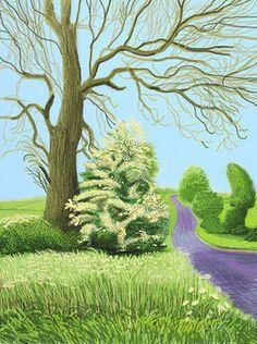 David Hockney, 'The Arrival of Spring in Woldgate, East Yorkshire in 2011 (twenty eleven) - 12 May,' 2011