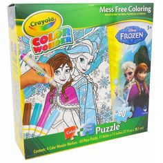 #Disney #frozen anna & elsa 60-pc. #crayola coloring puzzle by cardinal