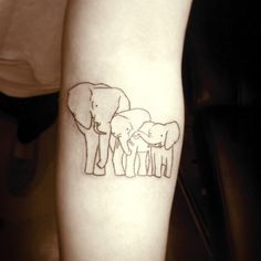 Elephant family tattoo Artist: Nina Dreamworx Ink 3883 Rutherford Rd, Unit 11 Vaughan, ON L4L 9R8 905-605-2663 @Dreamworx Ink
