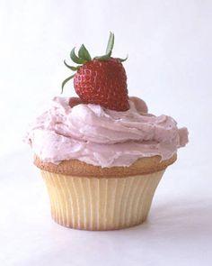 Muffin alle fragole e panna