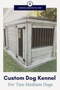 Looking for a new dog kennel? Check out our wide selection of luxury dog kennels & get yours custom made! We make our double sizes big enough for two dogs to fit comfortably. Medium Dog Kennel, Medium Dogs, Dog Lover Quotes, Dog Lovers, Lovers Gift, Urban Farmhouse, Farmhouse Style, Luxury Dog Kennels, Dog Spaces