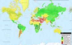 """Guarda la mappa delle ragazze facili. Ecco i paesi in cui """"la danno"""" di più. Sorpresa Italia"""