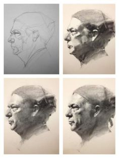 Charcoal portraits: Zimou Tan
