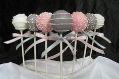 Your guests will enjoy these delicious baby shower cake pops! Cake pops are great as a gift, a party favor, or at a dessert or candy bar.