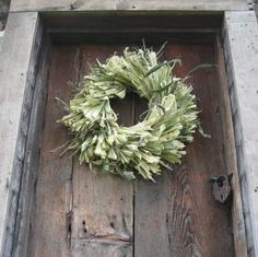 natural CoRN HuSK WReATH   for wall or door decoration  Medium size. $24.00, via Etsy.