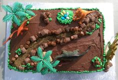 Cool Dinosaur Sheet Cake