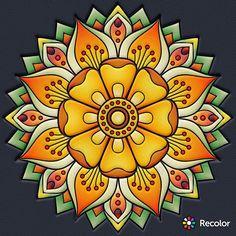 - ReColor - #ReColor Mandala Design, Mandala Art, Mandala Drawing, Mandala Painting, Dot Painting, Wal Art, Sharpie Art, Mandala Coloring, Fractal Art