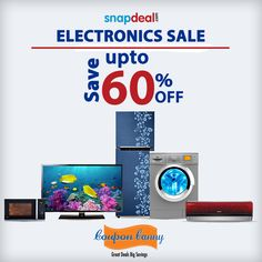 The Snapdeal Electronics Sale is on!!! Save more!  Up to 60% Off on Electronics Accessories