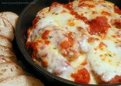 Skillet Chicken Parmesan Over Pasta.... Best Chicken Parmesan Recipe Ever!