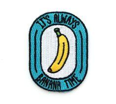 Banana Time Iron On Patch por MokuyobiThreads en Etsy