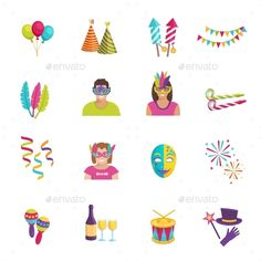 Carnival Icon Flat Design Template Vector EPS. Download here: http://graphicriver.net/item/carnival-icon-flat/16362730?ref=yinkira