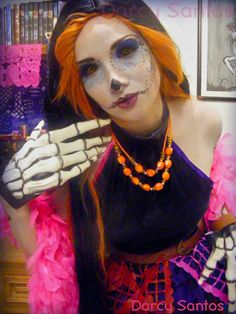 skelita calaveras monster high cosplaycostume makeuphalloween - Skelita Calaveras Halloween Costume