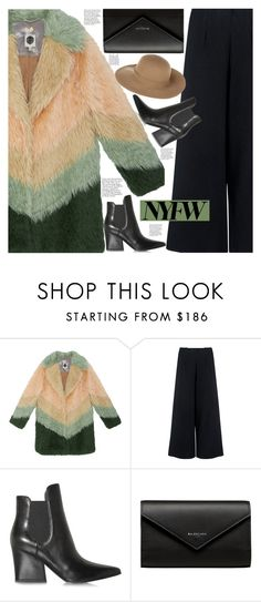 """""""NYFW: Day One!"""" by jade-714 ❤ liked on Polyvore featuring C/MEO COLLECTIVE, Kendall + Kylie, Balenciaga, Armani Jeans and NYFW"""