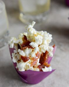 Smoky Bacon Popcorn with Burnt Sugar & Sea Salt - yes, I said Bacon!