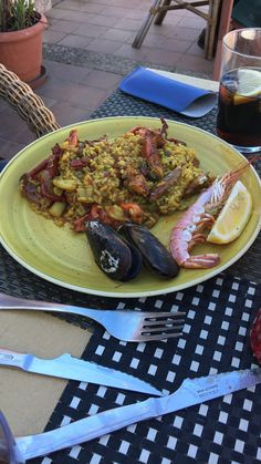 Paella from Flamingo, A great restaurant here in Menorca - Arenal D'en Castell