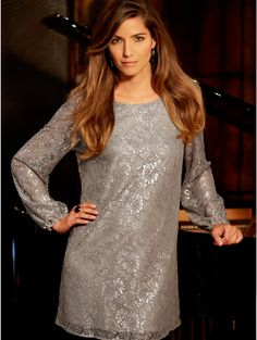 M Women Silver foil lace tunic Lace Tunic, Looking For Women, Sequin Skirt, Printing, Hot, Skirts, Silver, Shopping, Style