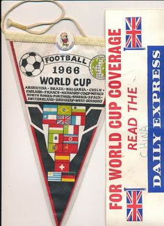 PENNANT: England World Cup 1966 + BADGE i