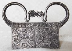 Soul Lock Pendant Antique Hmong Silver 24g Early 20th C Laos ETJ131