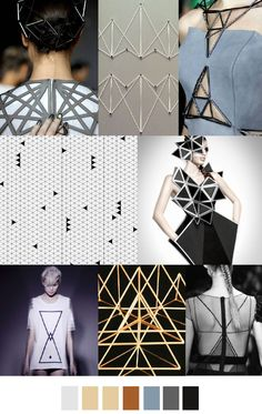 FASHION VIGNETTE: TRENDS // PATTERN CURATOR . PRINT, PATTERN + COLOR - GOLDEN TRIANGLE/TIMELESS TANGRAM