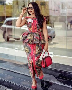 2019 African Fashion: Gorgeous and Trendy Asoebi Styles Long African Dresses, Latest African Fashion Dresses, African Print Dresses, African Print Fashion, Africa Fashion, Ankara Fashion, Modern African Fashion, Ankara Stil, Maxi Dresses