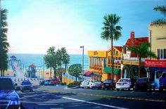 John Jaster - Manhattan Beach Shadows- Acrylic - Painting entry - July 2016 | BoldBrush Painting Competition