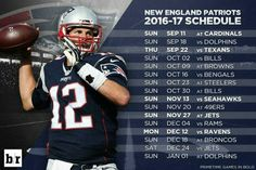 New England Patriots 2016-2017 schedule