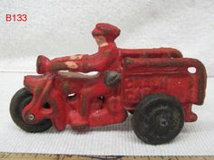 VINTAGE CAST IRON TOY MOTORCYCLE CRASH CAR ANTIQUE PIECE HARLEY DAVIDSON AWESOME!!!!  REALLY COOL ITEM!!!  PLEASE CHECK IT OUT ON AUCTION THIS WEEK!!!!!