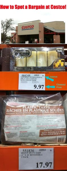 This post will teach you how to spot a bargain at costco just by looking at the signs!  You will never look at prices that same way ever again!  GOOD INFO!