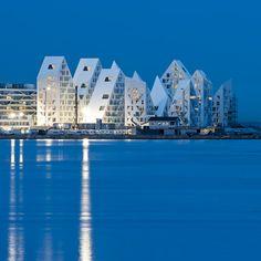 Isbjerget (Iceberg), a housing development in Denmark by JDS Architects, CEBRA, SeARCH and Louis Paillard
