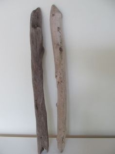 Wall hanging decor - 2 long driftwood branches for driftwood wall art by LonelyBeach on Etsy