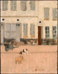 Bonnard, Two Dogs in a Deserted Street