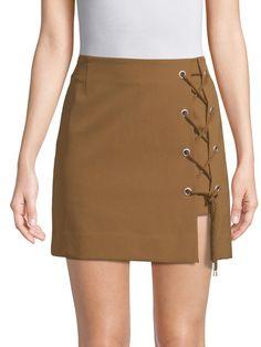 ca416c419ca Rebecca Minkoff Stevia Lace-Up Skirt