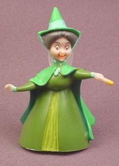 "Disney Sleeping Beauty Fauna Fairy PVC Figure, 2 5/8"" tall"