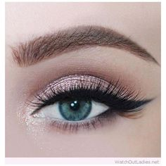 35 Amazingly beautiful Rose glitter eye makeup for blue eyes ❤ liked on Polyvore featuring beauty products