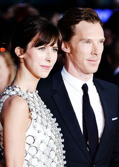 """benedictdaily: """"""""Sophie Hunter and Benedict Cumberbatch attend a screening of 'Black Mass' during the BFI London Film Festival at Odeon Leicester Square on October 11, 2015 in London, England (x)"""" """""""