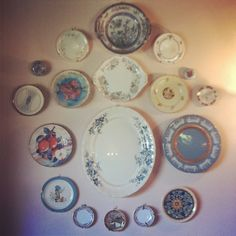 Collections.... Vintage plates. Blue.