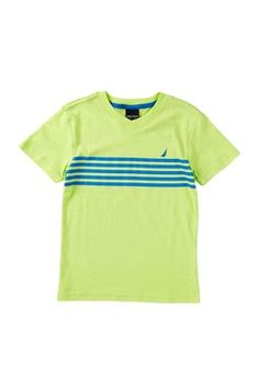 Short Sleeves Striped Tee (Little Boys)