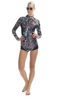 A girl can never have too many Cynthia Rowley wetsuits... right? Floral Wetsuit at Moda Operandi