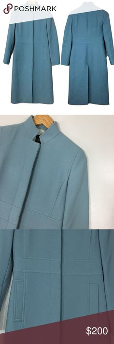 "J. Crew Double cloth lady day coat thinsulate The last layer should make a great first impression: this flattering, feminine coat is cut from our signature double-cloth wool. Excellent condition. No flaws. Like new. Only worn a few times. Bust 36"" waist 32"" length 43""   Italian wool/nylon. Round collar. Button closure  On-seam pockets. Lined in Thinsulate. Dry clean. Import. J. Crew Jackets & Coats Pea Coats"